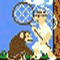 Super Monkey Poop Fight - Go around collect banana in this Flash game