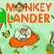 Monkey Lander - Play as the Monkey and collect tasty fruits and land the craft smoothly to avoid a crash. Watch out
