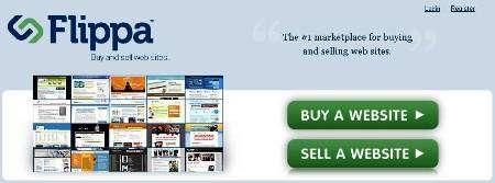 Flippa buy sell websites