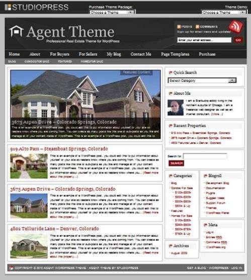 Agent WordPress Theme