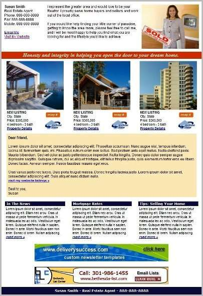 Real Estate Newsletter Templates for $10.00