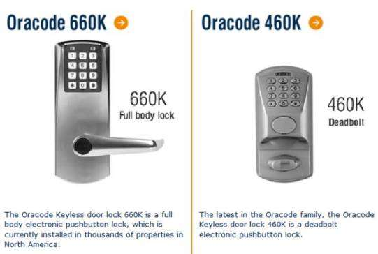 Oracode Electronic Keyless Door Locks