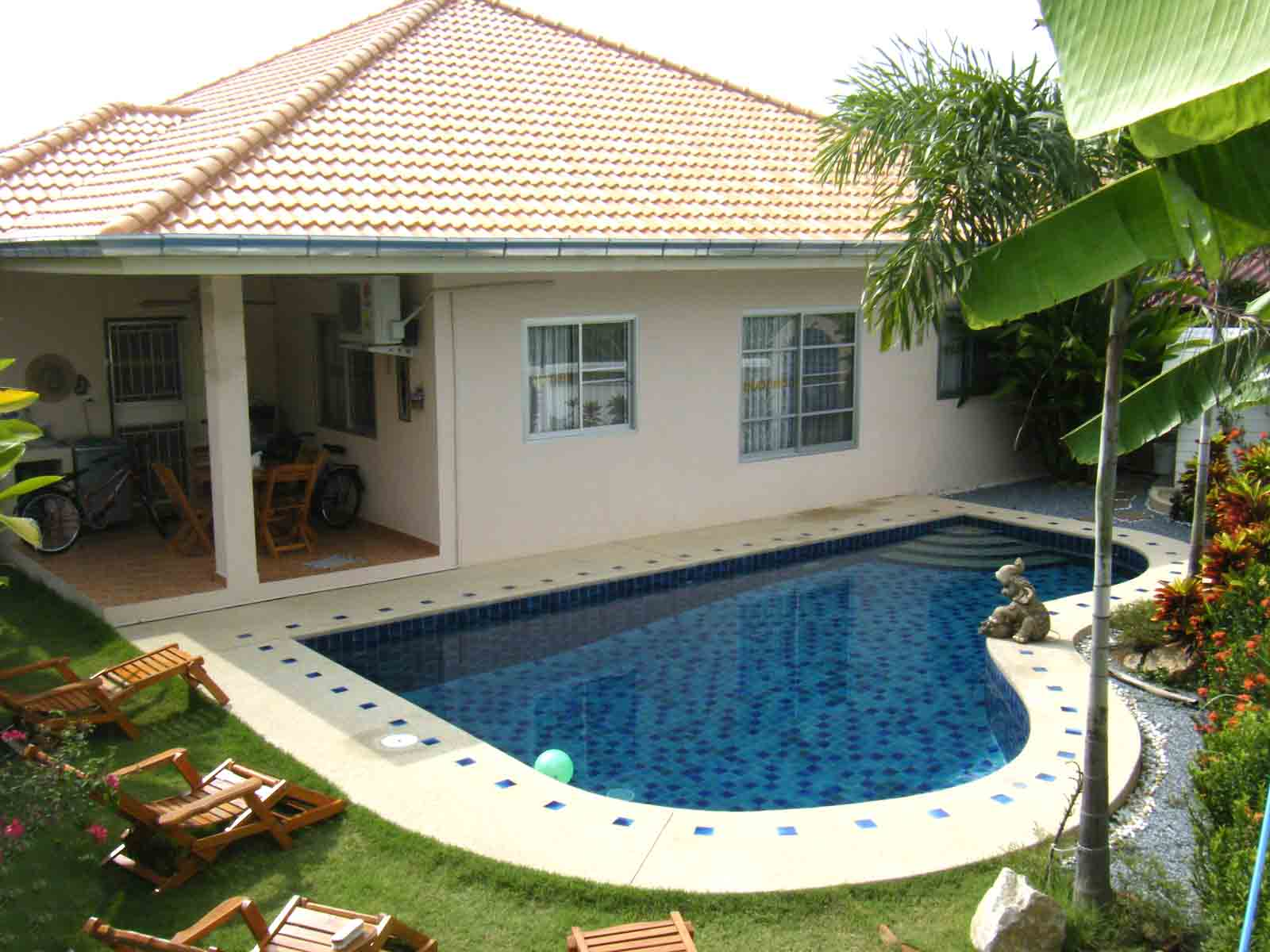 Luxury 3 Bed Bungalow Private Pool Near Beach