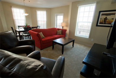 Living Room In Myrtle Beach Rental
